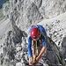 """Seilarbeit auf dem erstaunlich """"geräumigen"""" Gipfelkopf"""