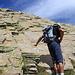 Grenzwertiges Wandern: hier gehts hoch zum Gipfel