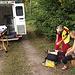 Abtransport via Krankenwagen