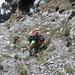 Kraxelei wenige Meter unterhalb des Gipfel des Kleinen Mythen Hauptgipfel - hopp [u bubu] :-)