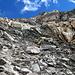 Blöckelige Sache... Abstieg von P. 3496 auf den Gletscher