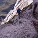 Am Klettersteigausstieg kurz vor dem Gipfel.