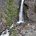 Wasserfall unter der Quelle der Liène