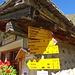 Hier scheiden sich weitere Wege - Alp Sardasca (nebst dem Brunnen hat's auch noch eine Bar im Stall!)