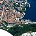 Tiefblick von der Cima Sat auf Riva del Garda