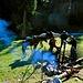 fliegende Händler am Ujun-Tor Fluss ... im Portfolio leider nur Eintrittskarten für den Nationalpark Karakol