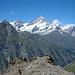 Ritzengrat mit Blick auf Weisshorn und Mettelhorn