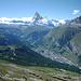 """Blick auf die """"Stadt"""" Zermatt"""