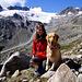 Da freut sich Mensch und Hund (links das Silo).