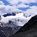 (Gezoomtes) Panorama der Rotkogeljochhüttesonnenterrasse - was für ein Wort.