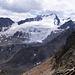 Blick südwärts in die stark vergletscherten zentralen Ötztaler Alpen (Weißkamm).