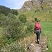 L'inizio del sentiero per l'Alp Piänetsch ed il Valserberg.