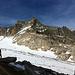 Der Gletschhorn Südgrat genau von vorne.