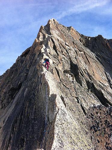 Südgrat Gletschhorn, bestes Granit