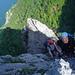 Christoph und Reiner im Klettersteig.