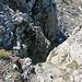 das schmale Couloir zum Oberhorn