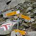 Abzweig zum Gipfel