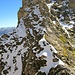 """Abstieg am Vortag - es liegt """"schon"""" ordentlich Schnee in der Wand, wodurch der Abstiegsweg verläuft"""