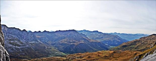 Panoramablick im Aufstieg