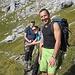 Von Hinten....[u vauacht], Marina und Beat beim weiteren Aufstieg zum Beginn des Glärnischfirn.