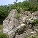 Die Felsen von unten.