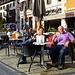...wieder in Chamonix genießen wir den Kaffee und sehen: ....
