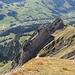 Blick auf die Zehenspitze und die Schafbergwand