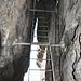 Die lange Leiter zum Hinteren Raubschloss.