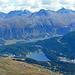 Aussicht von der Fuorcla Albana Richtung St. Moritz, den Lej da San Murezzan und den Lej da Staz