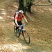 Tratto pedalabile nel bosco