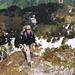 Lena im Abstieg über den Ostgrat