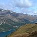 Blick zum Silvaplaner See mit Piz Julier