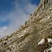 Aufstiegsweg zum Gipfel
