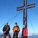 Wiggerl, Erich und Petra am Gipfel des Großen Griessteins.