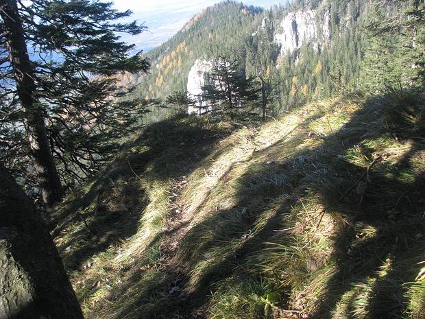 Aussichtsstelle mit Blick zurück auf den Schnappenberg