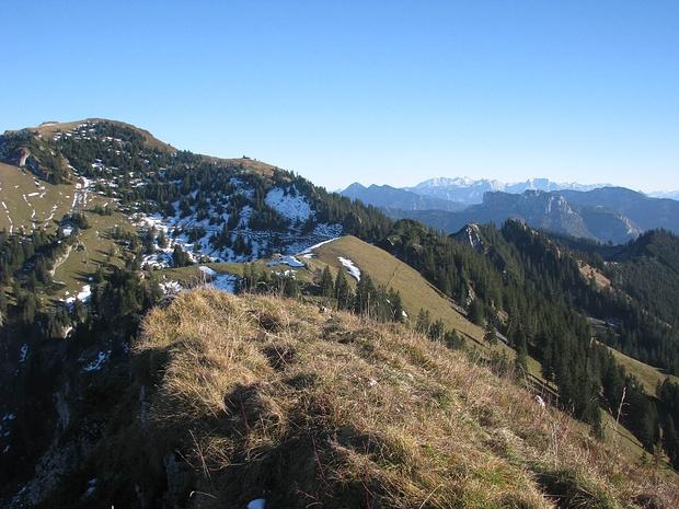 Gipfel Zwölferspitz, Blickrichtung Hochgerngipfel