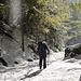 Aufstieg während der Schneeschmelze