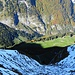 Der Tiefblick vom Grat der Marwees: Winter und Herbst