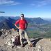 Auf dem Kl. Mythen-Gipfel mit der Rigi-Kette im Hintergrund