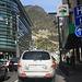 Durch enge Strassen mit viel Verkehr bahnen wir uns einen Weg aus der Hauptstadt Andorras. Die Strassenführung ist etwas chaotische da die Stadt auf engstem Raum steht.
