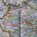Karte mit eingezeichneter Route über den Coma de Pedrosa.