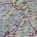 Mein Route zu Fuss von Arinsal entlang der Strasse zurück nach La Massana.