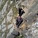 Klettersteigpassage an verrosteten Eisen