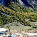 Nochmals ein Tiefblick auf den Talboden beim Kalser Tauernhaus.