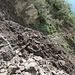 Erdrutsch, der am Morgen diesen Tages den Weg zwischen P. 1662 und P 1869 verschüttete