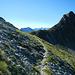 Die Nördliche Röbispitze (2.450m) über dem Sarotlajoch