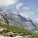 Immer noch unterwegs - Abstieg vom Col ins Val Veny.