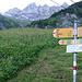 Startpunkt der langen Tour. In den Tschingelhörnern ist das Martinsloch zu sehen und links davon der Segnes Pass