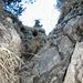 Der Kamin vor dem Gipfelgrat