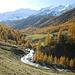 Der Schnalserbach schlängelt sich durch's Tal